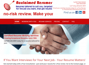 Acclaimed Resumes.com
