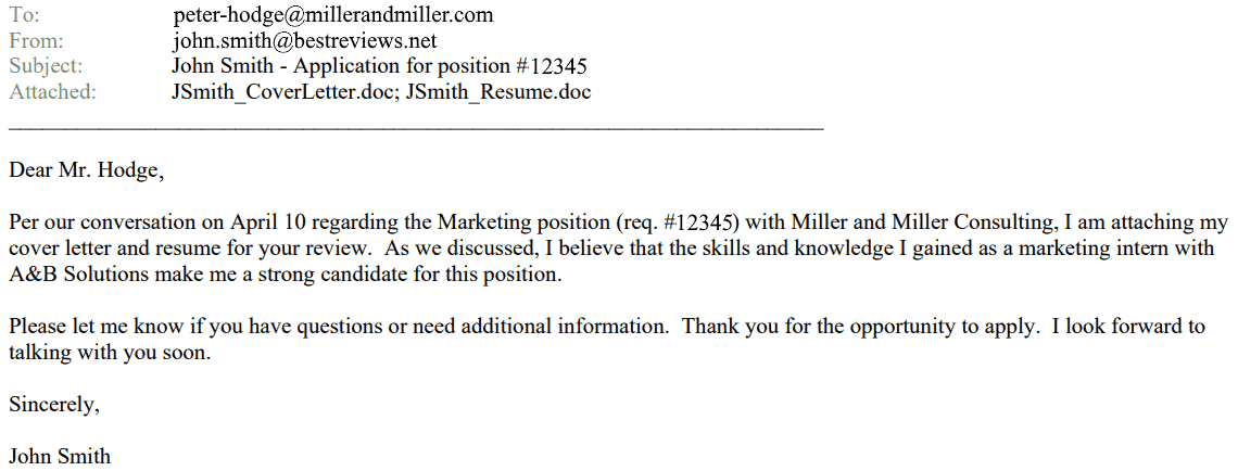 Email Etiquette For Job Hunters Sending Our Resumes The Correct