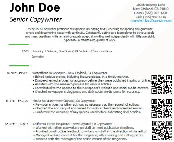 A Copywriter Resume From the Future