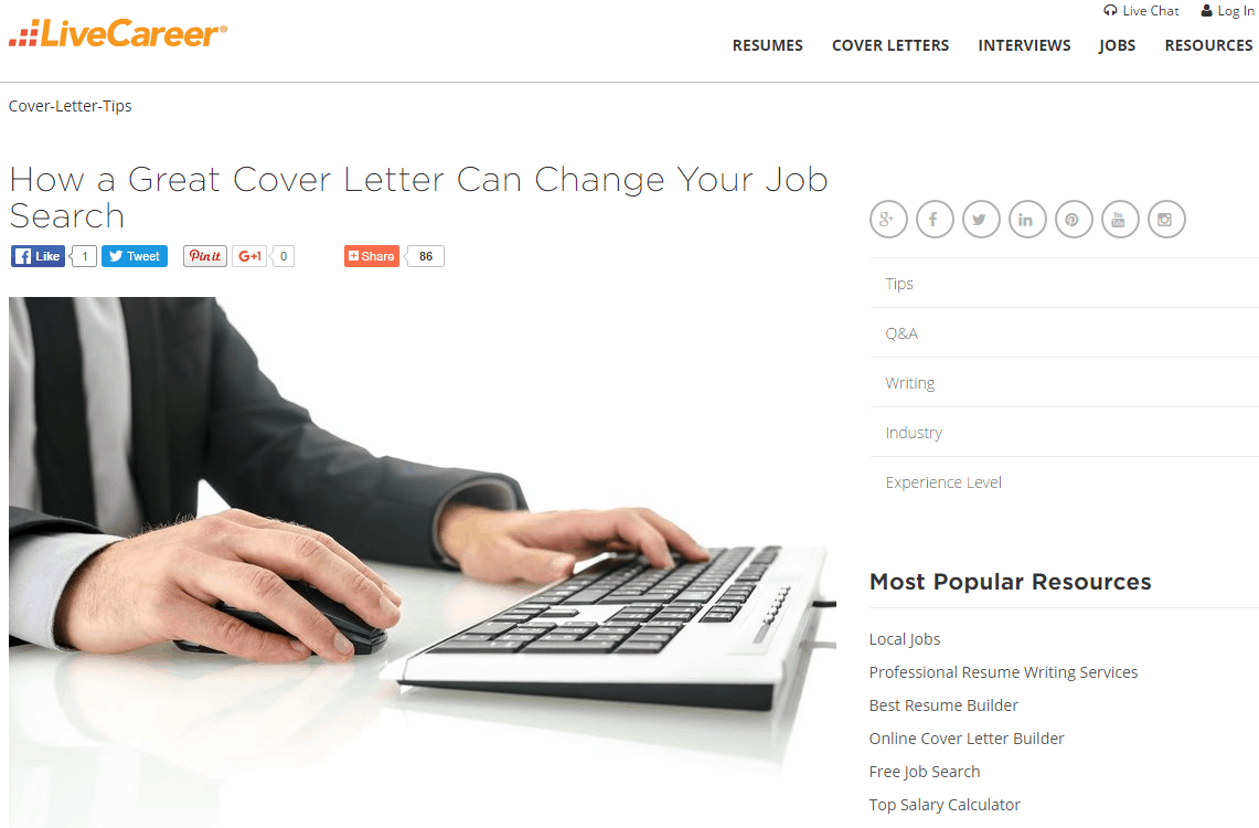 LiveCareer Blog  Livecareer Resume Builder