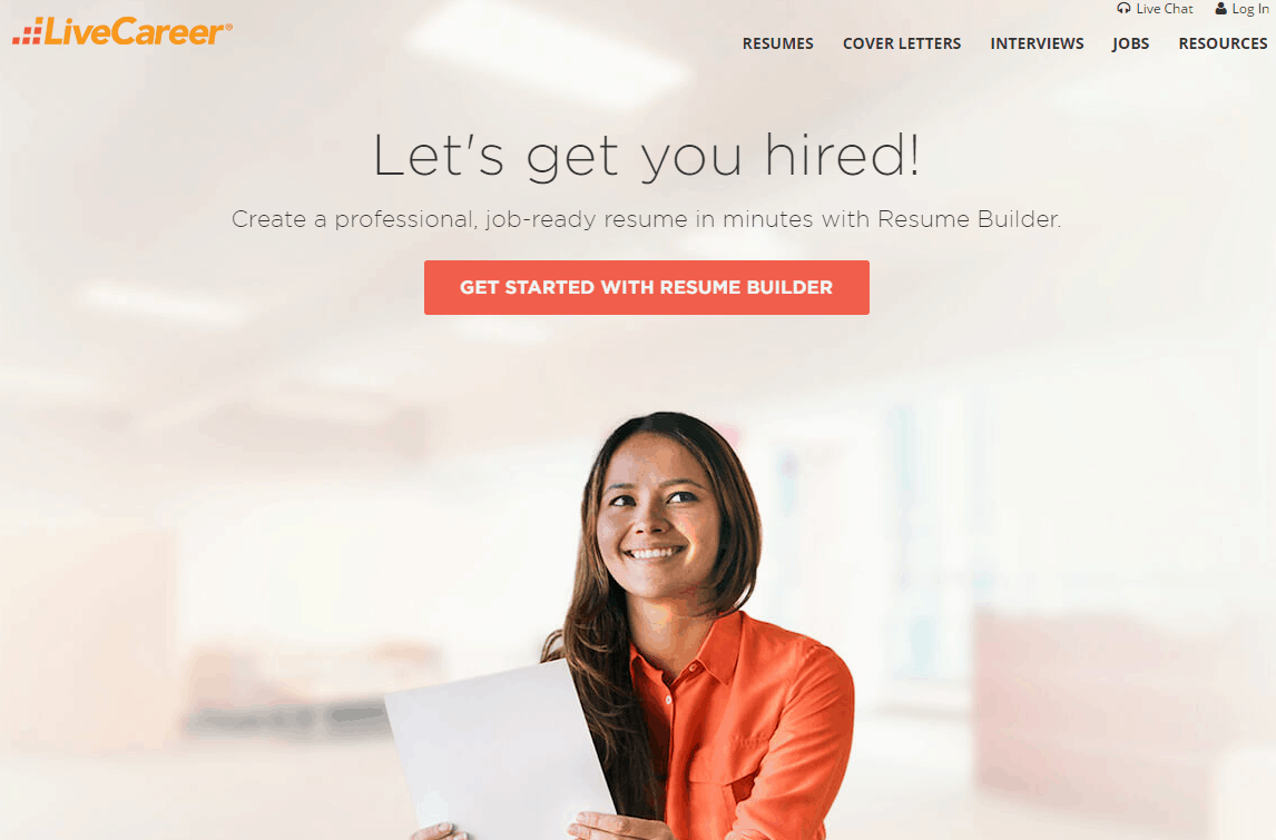 cv builder livecareer