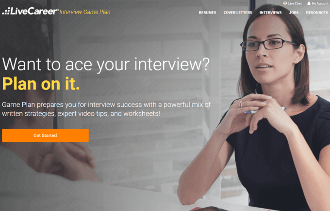 LiveCareer Interview Game Plan