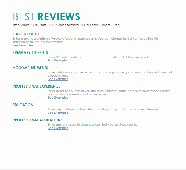 Perfect LiveCareer Resume Preview  Live Carreer
