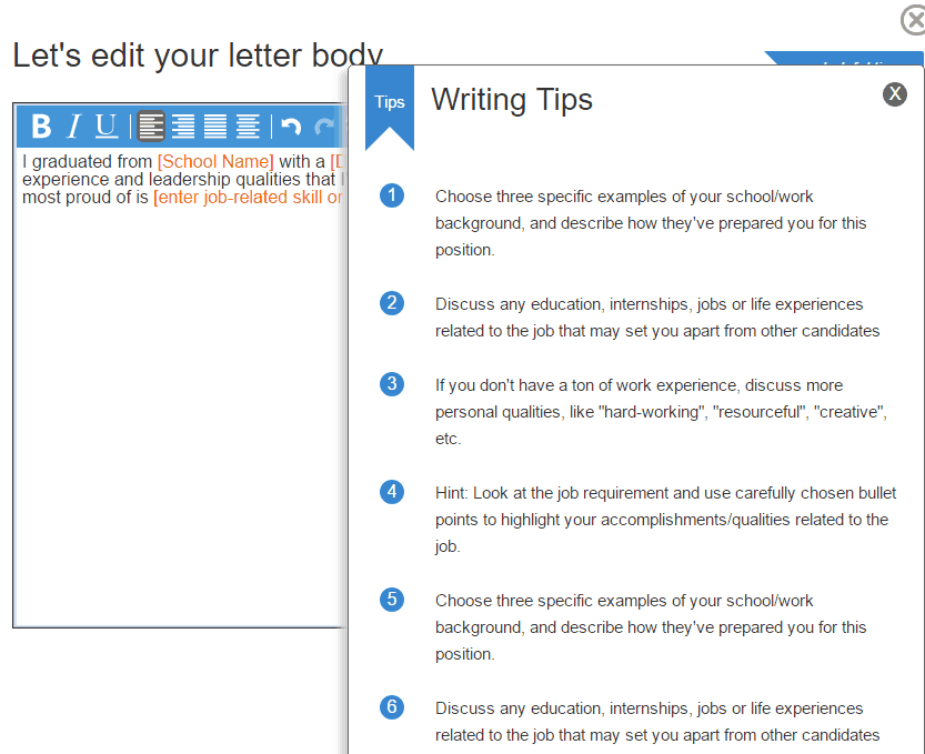 writing tips for cover letters - Tips For Cover Letter Writing