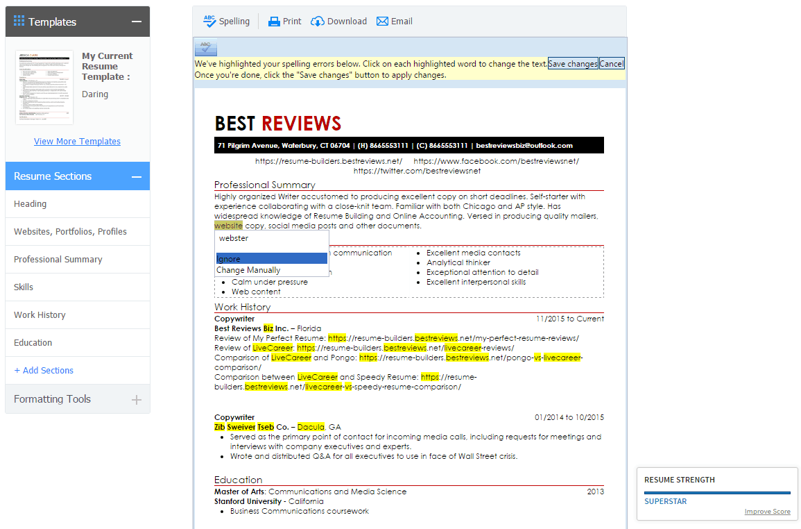 My Perfect Resume vs Resumeio Comparison Best Reviews