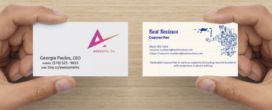 Networking cards the miniature resumes resume builders reviews business cards vs networking cards reheart Gallery