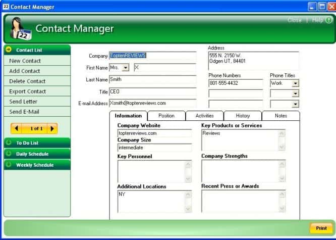 ResumeMaker Professional Contact Manager