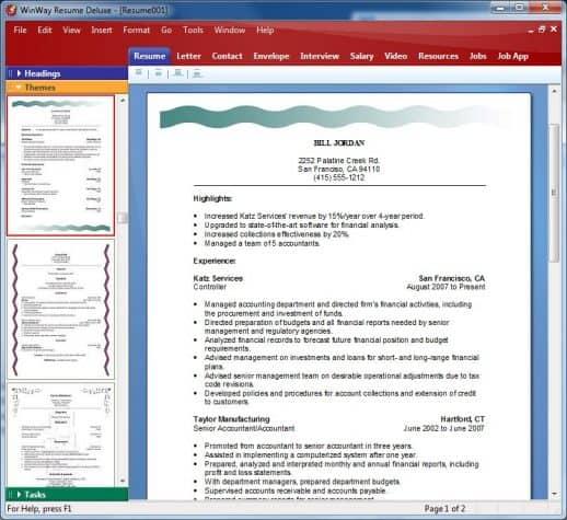 Online Resume Builder Comparison Chart Best Reviews