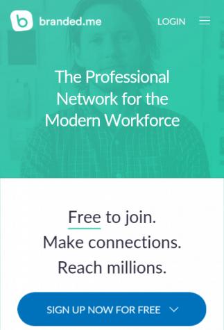 LinkedIn Alternative Branded.me Mobile