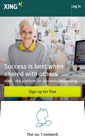 LinkedIn Alternative Xing Mobile