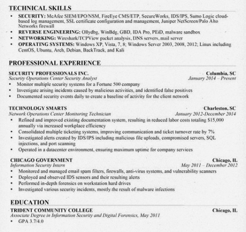 Experience, Skills and Education Example by Resume Genius