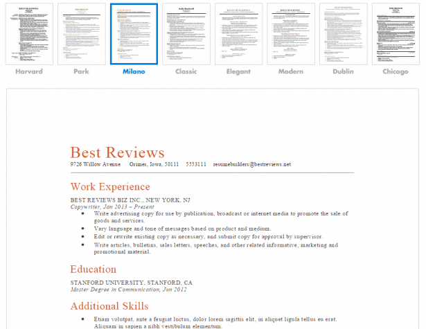 Resume Companion CV Templates