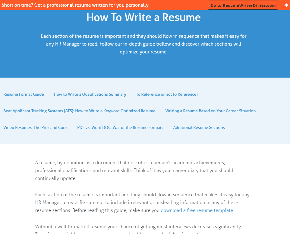 writing tips by resume companion - Resume Companion