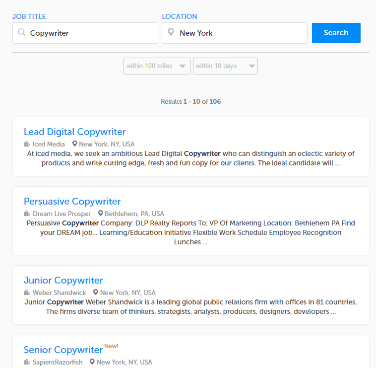 ZipRecruiter Job Board
