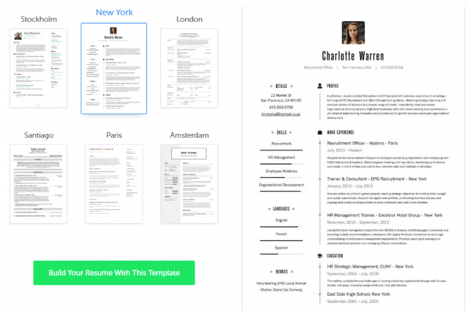 Resume.io Templates