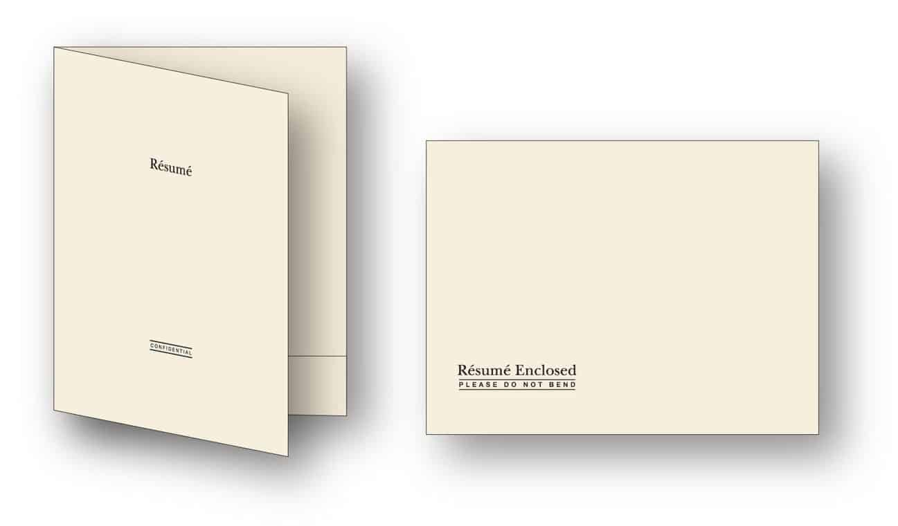 Southworth Resume Envelopes And Folder Sample  Resume Folder