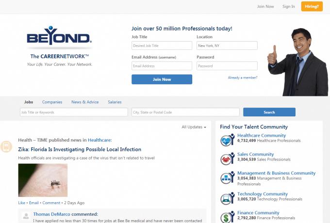 Beyond.com Homepage