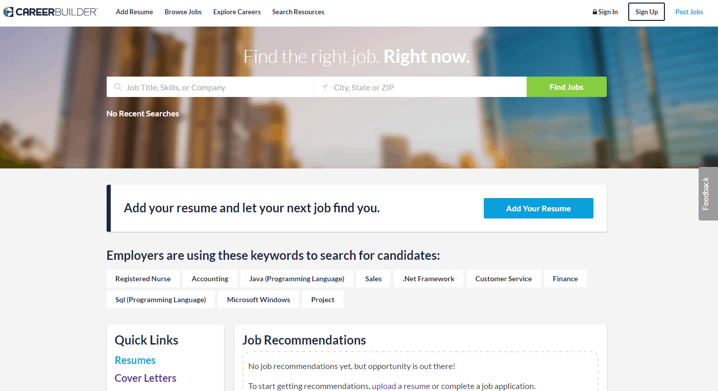 resume builder sites top websites for posting your resume online builders reviews careerbuilder homepage