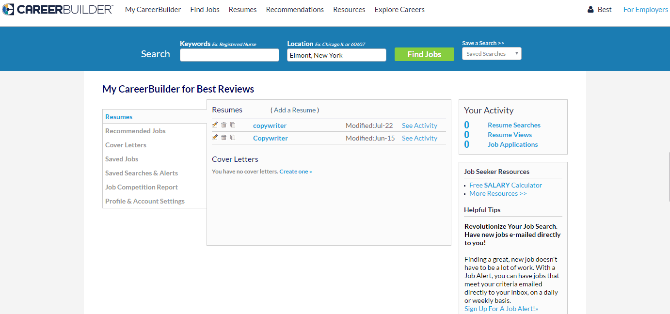 CareerBuilder Portfolio  Career Builder Resumes