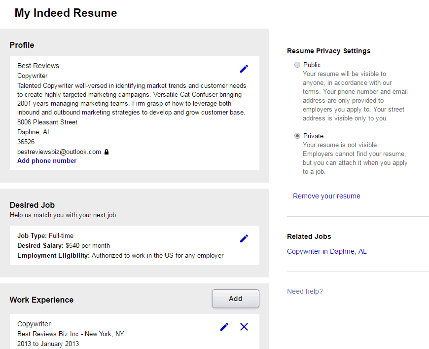 top websites for posting your resume online