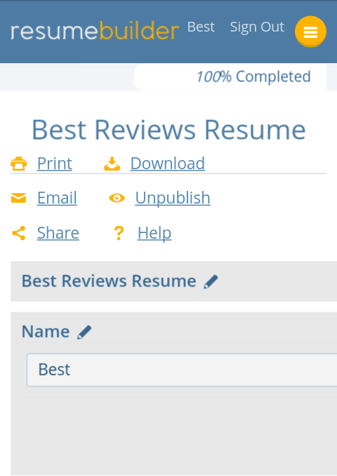 resumebuilderorg setup on mobile device - Mobile Resume Builder