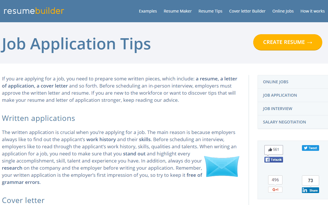 job application tips in resumebuilderorg support