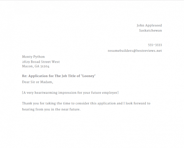 Speedy Resume Cover Letter