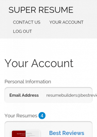 Super-Resume's Mobile Dashboard