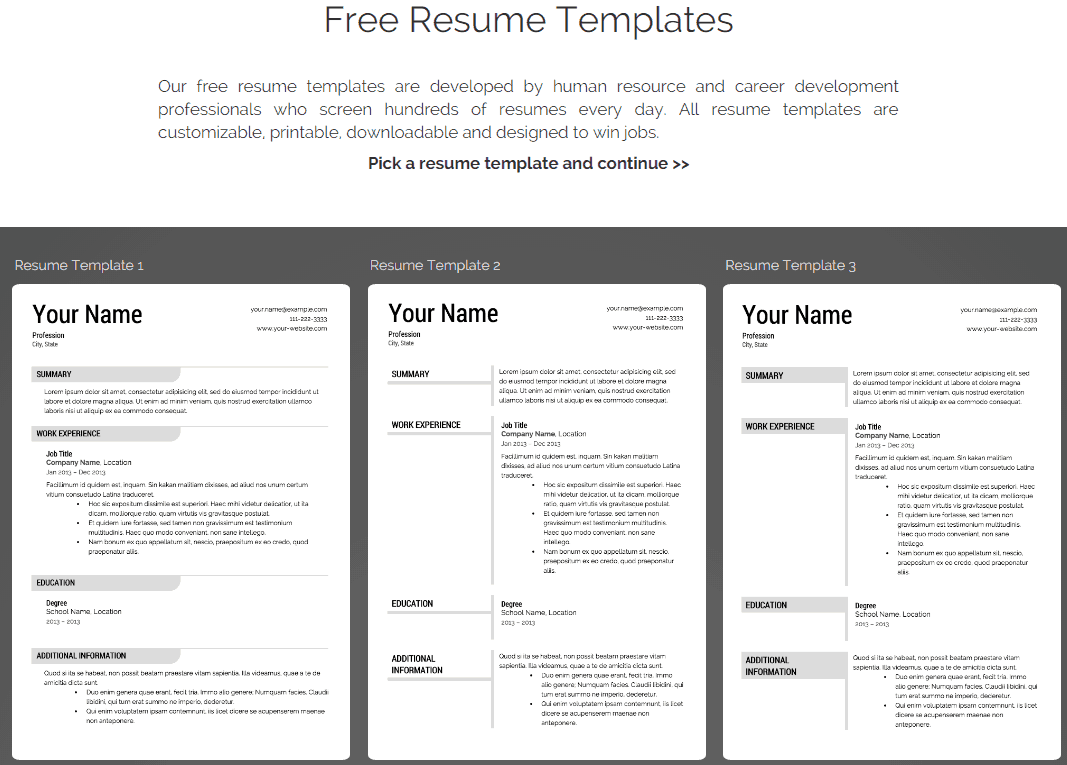 Online Resume Builder Comparison Chart - Best Reviews